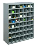 Durham 361-95 Gray Cold Rolled Steel 56 Opening Bin with Slope Self Design, 33-3/4' Width x 42' Height x 12' Depth