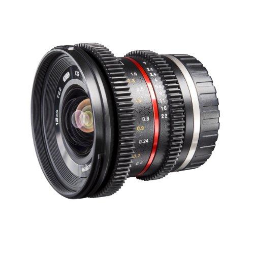 Walimex Pro 12mm 1:2,2 VCSC-Weitwinkelobjektiv für Sony E Mount Objektivbajonett schwarz (manueller Fokus, für APS-C Sensor gerechnet, Filterdurchmesser 67mm, stufenlose Blendeneinstellung)