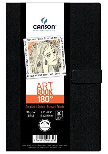Canson 200006460 180 Skizzenbuch, 14 x 21.6 cm, naturweiß