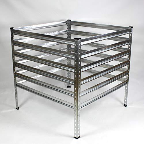 IHD Metall Gartenkomposter 90-120 cm verzinkt Komposter Garten Metallkomposter 100x100x90cm