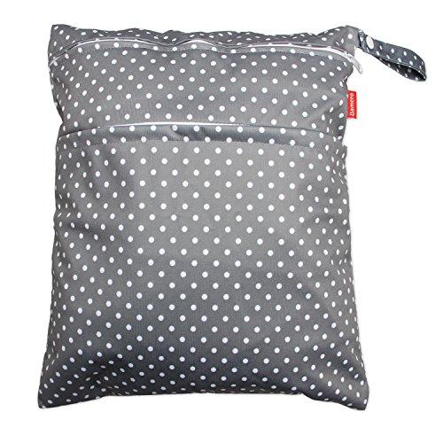 Damero babyluiertas voor kleine kinderen, afwasbaar, herbruikbare stof luierorganiser tas met ritssluiting, grote zwarte pijl