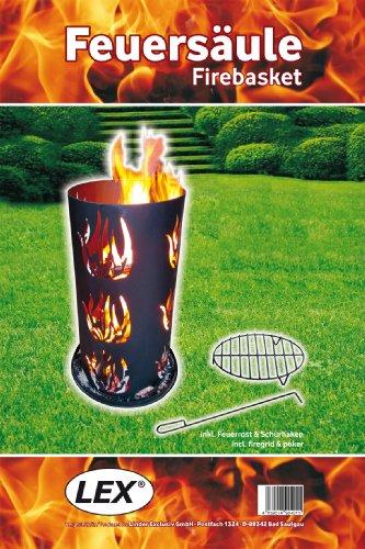 Feuersäule 60cm, schwarz, Rost