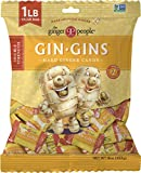 The Ginger People Gin Gins Hard Candy 1 pound bag, Double Strength, 16 Ounce