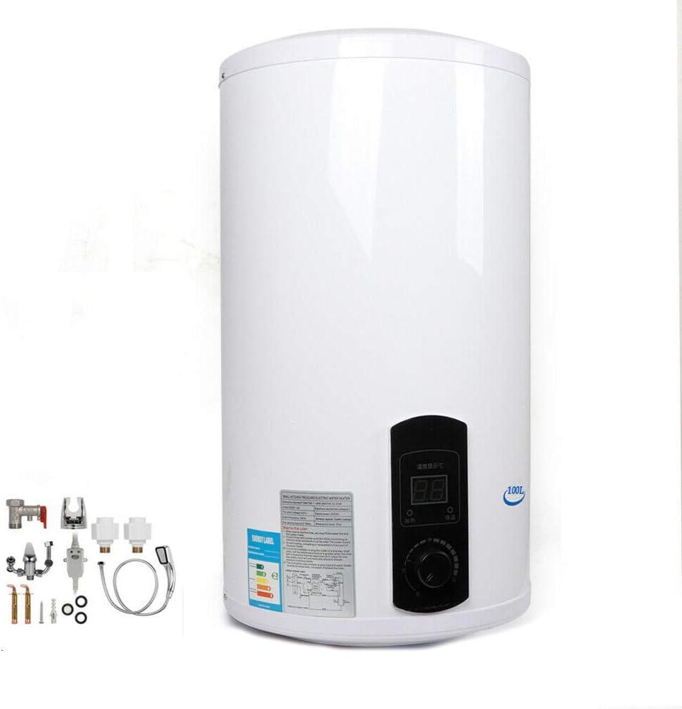 100 l Scaldabagno elettrico per acqua calda resistente alla pressione boiler da parete per cucina e bagno