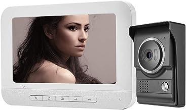 Video Intercom,Video Doorbell Wired,7 Inches Wired Video Door Phone Intercom System Kit..