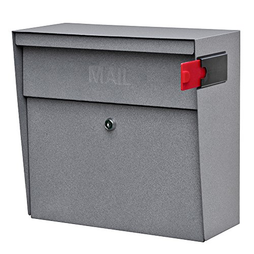 Mail Boss 7161 Metro Locking Security Wall Mount Mailbox, Granite