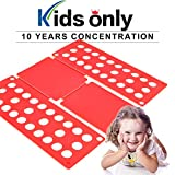 PetOde Shirt Folder Shirt Folding Board Clothes Folder Easy and Fast Flipfold for Children, Red
