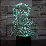 Luz de ilusión3Dluz denocheLEDmy hero academy anime burst breast Shenghui action juguete para niños lámpara de mesa creativa decoración