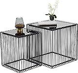 Kare Beistelltisch Wire Square, Schwarz, (2/Set), 45 x 45 cm