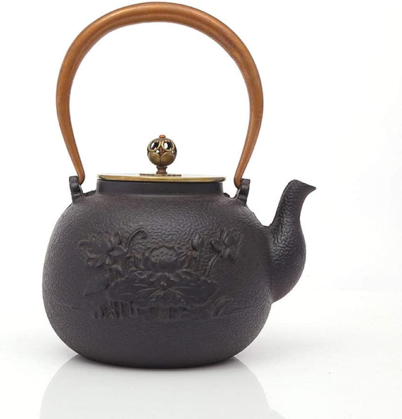 cast iron teapot with standCast Today's only lotus pot hand- fish Seattle Mall