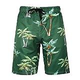 Men's Beach Pants Fat Big Size Creative Print Shorts Summer Sports Pants