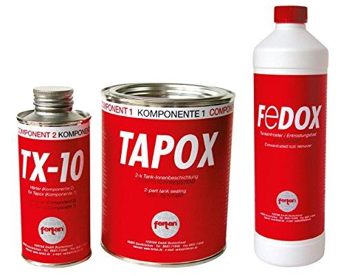 Set Fertan Tapox Tank-Innenbeschichtung & Fedox Tankentroster Tanksanierung