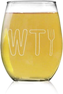 The Good Place WTFork Stemless Wine Glass