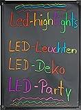 LED-Highlights Deko Leuchtschild Reklame Tafel 80 x 60 cm Fernbedienung 7 Led Farben Leuchttafel...