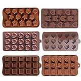 MHwan Esfera de Molde de Chocolate, Molde para Bombones, Molde de Chocolate Antiadherente Moldes de Chocolate de Silicona Molde para Hornear para Chocolate Hecho a Mano DIY, 6 Piezas, 21x10.5x1.5cm