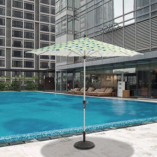 GBTB Sombrillas Premium 9 'Beach Patio Pool Side Umbrella, Sombrilla de Mesa de jardín al Aire Libre con 8 Costillas Resistentes y Poste de Aluminio (Tamaño: 9 pies / 270 cm)