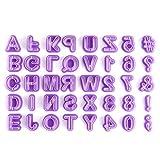 Iaywayii 40pcs Alphabet Schneider Schreiben Schneider Fondant-Plätzchen-Ausstecher für Kuchen Dekorieren