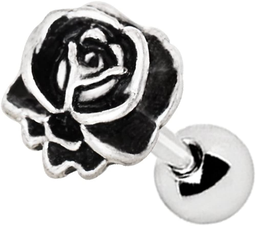 Antique Rose Cartilage/Tragus Piercing Stud in 316L Stainless Steel