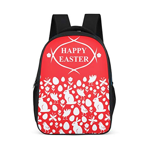 Easter Rabbit Children's School Bags Elementary Causal for Youth grey onesize