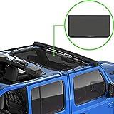 ALIEN SUNSHADE Jeep Wrangler JL or JLU (2018-Current) Front Sun Shade Mesh Top Cover (Black) – 10 Year Warranty – Blocks UV, Wind, Noise
