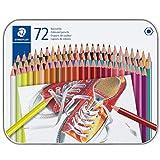 Staedtler 175M72. Lápices de colores con forma hexagonal. Caja con 72 colores...