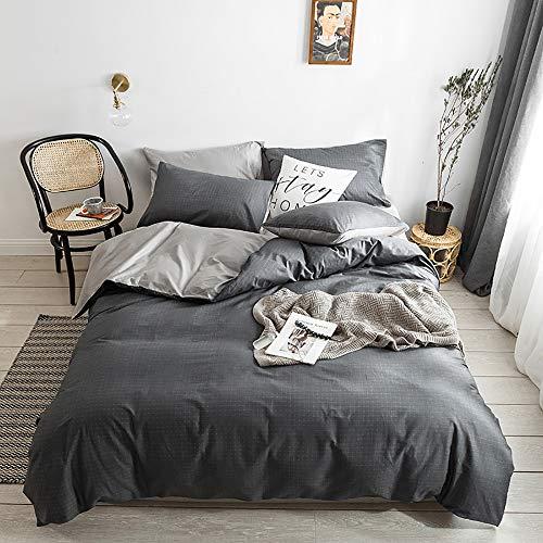 Bradoner Ropa de Cama de algodón con Lunares Negros Active Active and Dyeing Kit Dormitorio Funda de Almohada de Cuatro Piezas * 2 / Sábana/Funda de edredón