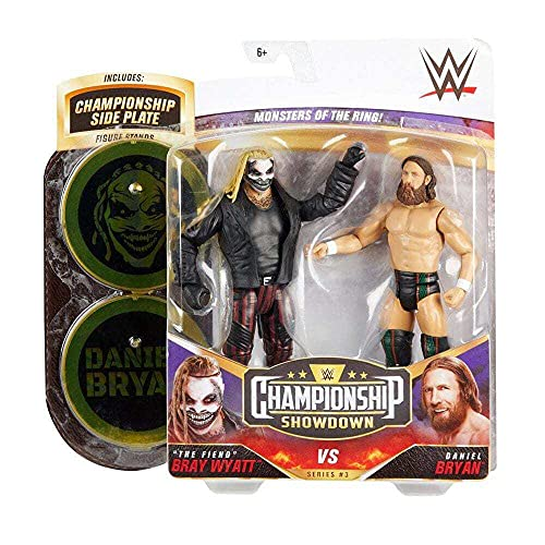 """WWE """"The Fiend"""" Bray Wyatt vs Daniel Bryan Championship Showdown 2-Pack 6-in / 15.24-cm Action Figures Monsters of the Ring Battle Pack for Ages 6 Years Old & Up"""
