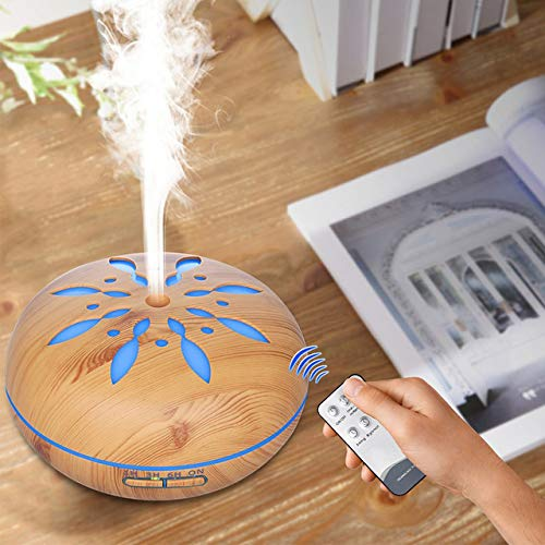 Umidificador de Ar Difusor Aromatizador madeira Flor 500ml