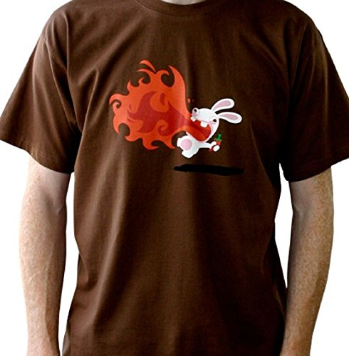 Rayman Raving Rabbids T-Shirt: Piment (Marron) Taille S