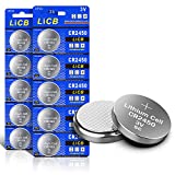 LiCB 10 Stück CR2450 3V Lithium Knopfzellen CR 2450 Batterien