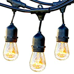 PATIO DROP LIGHTS CREATE A CLASSIC CAFE AMBIENCE IN YOUR EXTERIOR SPACE: String up Ambience Pro lights on your pergola, porch or other outside space to create a great atmosphere to relax and/or entertain guests. These vintage Edison string lights wit...