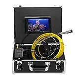 Lixada Fischfinder Unterwasserfischen Kamera 20M Drain Pipe Sewer Inspektion Kamera LCD Monitor DVR Recorder 13 LEDs Nachtsicht Wasserdicht