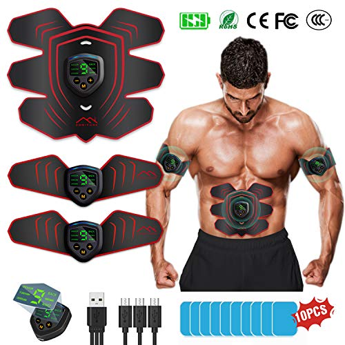 HONITURE Muscle Stimulator EMS Abs trainer Portable Abdominal Muscle Toner...