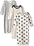 Touched by Nature Unisex Baby Organic Cotton Gowns, Hedgehog, 0-6 Months US