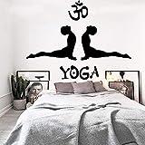 Tianpengyuanshuai Fitness Hombre Yoga Etiqueta de la Pared Dormitorio Fondo Vinilo Impermeable Etiqueta de la Pared Autoadhesivo Papel Pintado 64X50cm
