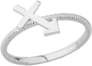 CaliRoseJewelry Sterling Silver Sagittarius Horoscope Zodiac Rope Ring