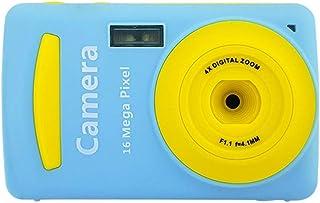 Nobrannd Niños cámara Digital 16MP cámara de vídeo del niño Mini cámara Digital con 24 Pulgadas de Pantalla de visualización Las Muchachas de los Regalos creativos (Color : Azul Size : Free Size)