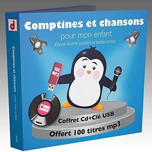 Comptines et chansons pour Mon enfant-100 Titres (1 CD+1 CLE...