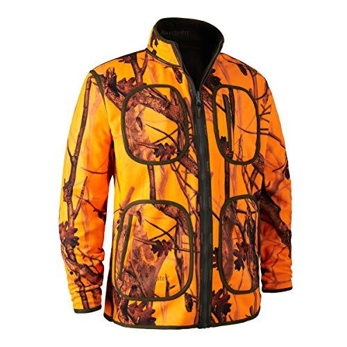 Deerhunter Fleecejacke Herren Gamekeeper Wendbar Braun/Camouflage/Orange