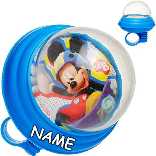 alles-meine.de GmbH Fahrradhupe Soft / Fahrradklingel - Disney - Mickey Mouse - inkl. Name - UNIVERSAL Lenkerhupe / Klingel für das Fahrrad - laut - Kinder Jungen Mädchen - Lenke..