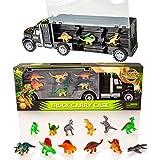 Camión transportador de Dinosaurios y 12 Figuras de Juego de...