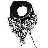 maxx.denno Unisex Wickel-Loop-Schal im Patchwork-Style Label