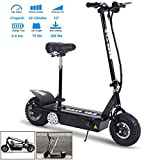 TOXOZERS Folding 800w 36v Electric Scooter with Strong Carrying Capacity,Pocket Bike with Removable Seat,10''Knobby Pneumatic Tires and Powerful Mini Scooters for Adults