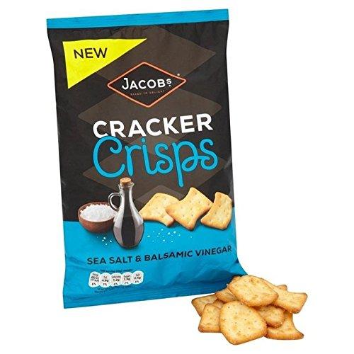 Cracker Chips Mer De Sel De Jacob & Vinaigre Balsamique 150G - Paquet de 6