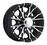 16 x 6 Viper T07 Black Machined Trailer Wheel 8 Lug, 3,750 lb Capacity