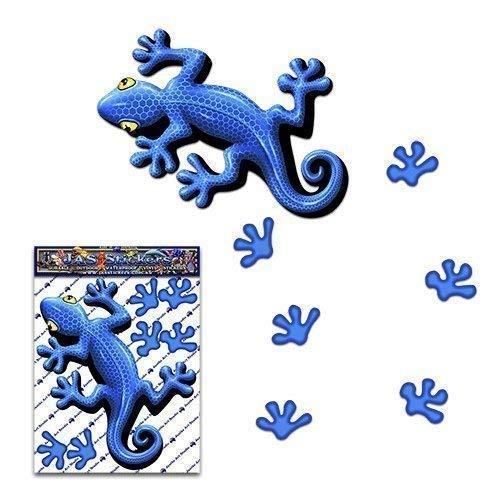 Etiqueta engomada gracioso animal del gecko del azul para las caravanas de...