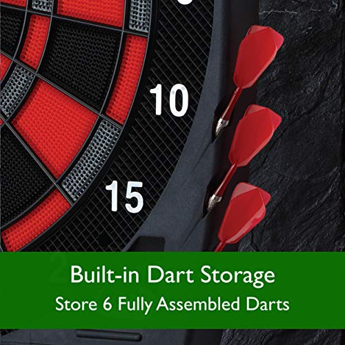 Viper Specter Electronic Dartboard, Double Tall Lcd Cricket Scoreboard, Bilingual Voice Scoring, Built In Storage For Darts And Tips, Ultra Thin Spider For Increased Scoring Area, Powered By An Ac Adapter Or Batteries, 50 Games With 704 Options