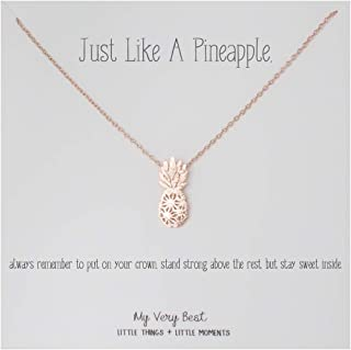 Dainty Pineapple Necklace_Just Like a Pineapple, Always Remember to Put on Your Crown,..