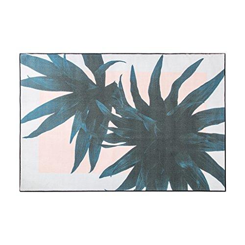 KTYXGKL Alfombra rectangular de jardín fresca, para sala de estar, dormitorio, mesita de noche, mesa de café, alfombra verde oscuro (tamaño: 140 x 200 cm)