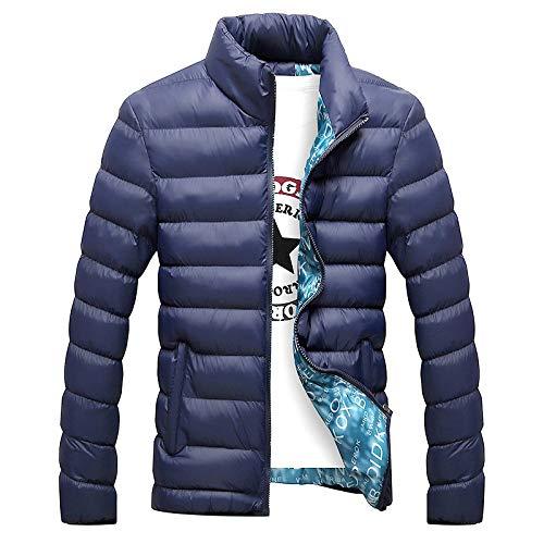 2019 Slim Winter Collar Hombres Talla Grande Sudadera Color sólido Abajo Ropa de algodón
